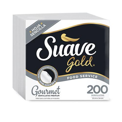 Servilletas Suave gold Gourmet 1Ply