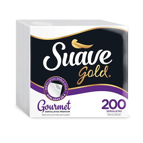 Servilletas Suave gold Gourmet 2Ply